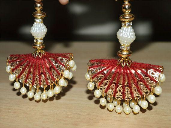 Decorative Hanging Beaded Tassel for Wedding Lehenga Dress Blouses, Indian Embellishment, Accessories Latkan, Saree tassel, Dupatta Tassel