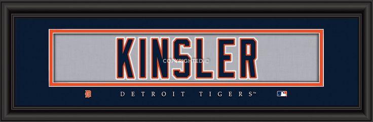 """Detroit Tigers Ian Kinsler Print - Signature 8""""x24"""""""