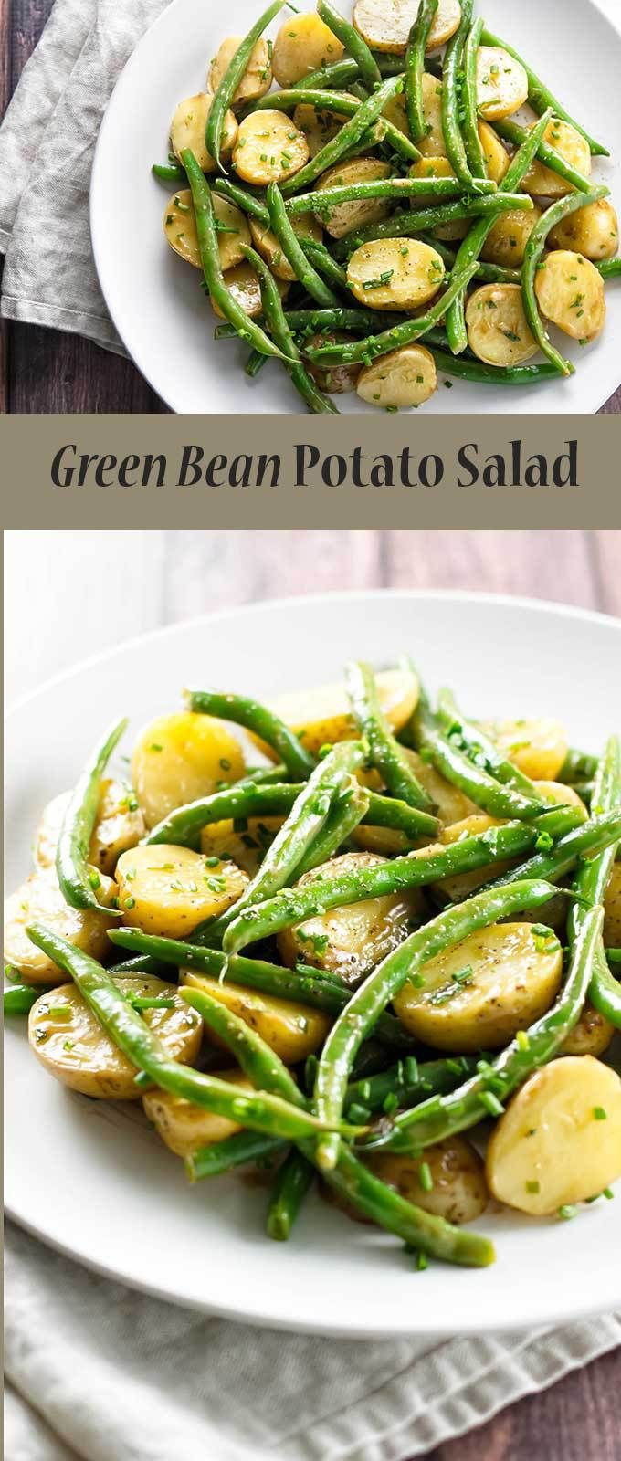 Green Bean Potato Salad is the perfect side dish for any season | girlgonegourmet.com