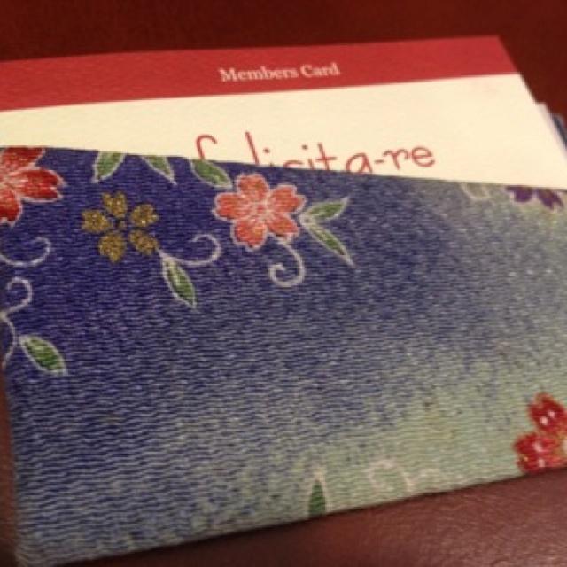 82歳おばぁちゃんのカード入れ☆可愛い TESTアップ