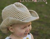 Bebé Crochet patrón sombrero vaquero de sombrero de vaquero BOOT SCOOT'N digital
