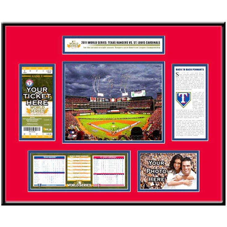Texas Rangers 2011 World Series Ticket Frame - $119.99