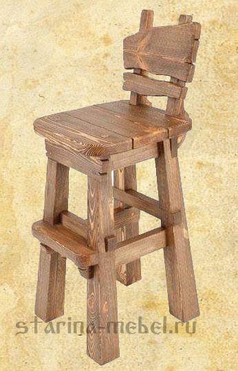 """Барный стул из дерева """"Барный  №6"""""""