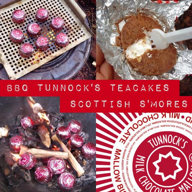 Foodie Quine: Shortest Day Food in the Wood with BBQ'd Tunnocks Teacakes