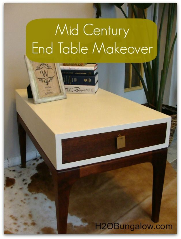 Mid Century End Table Makeover