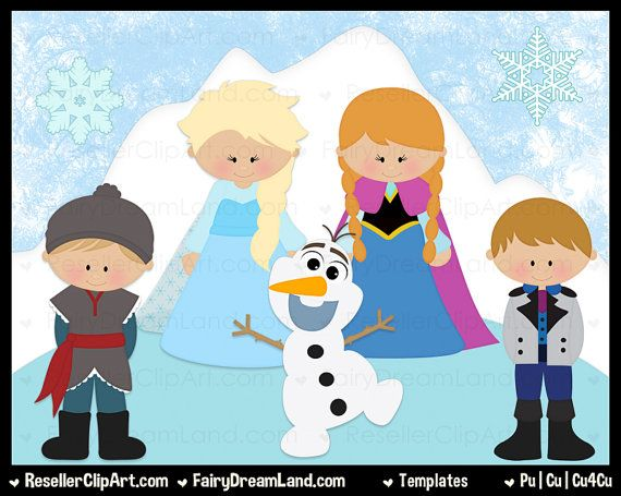 Frozen Template Elsa Template Anna Template by ResellerClipArt, $7.00
