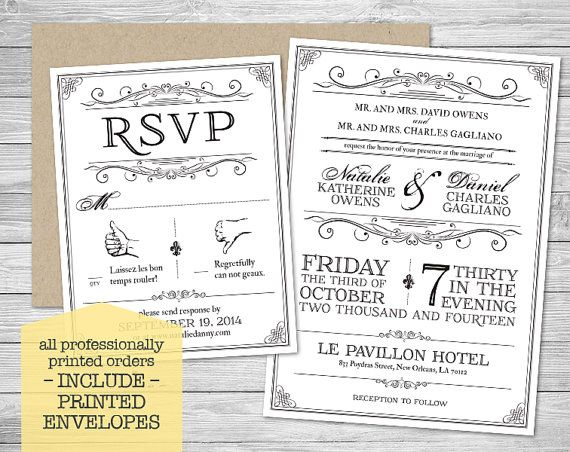 9 best wedding invitations images on pinterest wedding invitation new orleans inspired wedding invitation suite with kraft envelopes by nvitecp stopboris Images