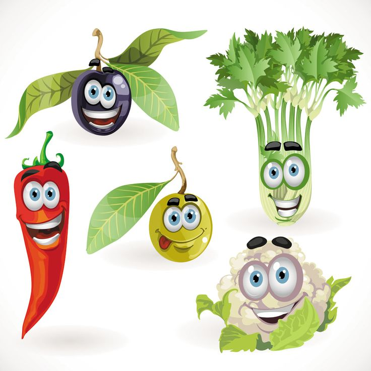 Vegetable cartoon image vector-1