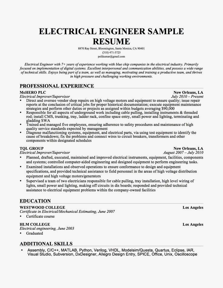 Resume Example Cv Example Professional And Creative Resume Design Cover Letter For Ms Word Engineering Resume Resume Resume Examples