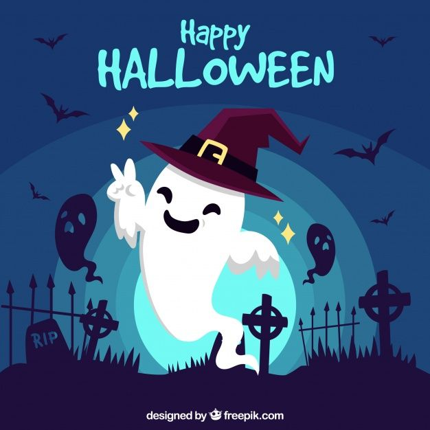 Fundo de halloween feliz com fantasma engraçado Vetor grátis | Free Vector  #Freepik #vector #freefundo… | Feliz dia das bruxas, Imagens do dia das  bruxas, Halloween