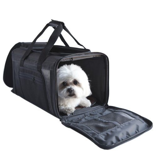 Petote Carle Airline Pet Travel Bag, Black *** Read more details by clicking on the image. #CatCarriersStrollers