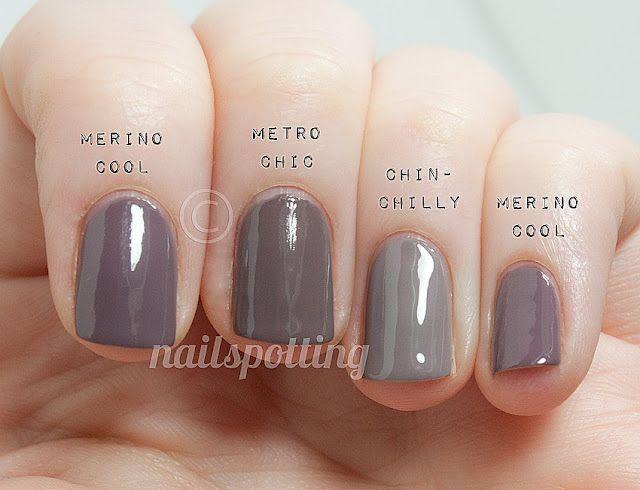 Comp Essie Merino Cool Vs Opi Metro Chic Vs Essie Chinchilly Nailspotting Nails