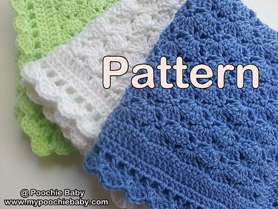 PATTERN  Crochet Baby Blanket Made with One Skein