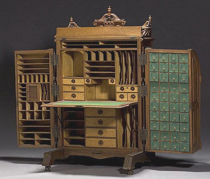 William Wooton formed a company and obtained patents (in for his cabinets  with multiple drawers and nooks. - 267 Best The Study. Images On Pinterest Acre, Mornings And Home