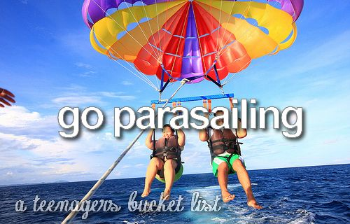 parasailing somewhere tropical, that is!