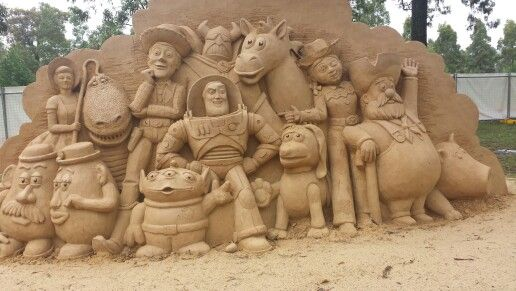 Disney Pixar Sand Sculptures! This one was Toy Story themed