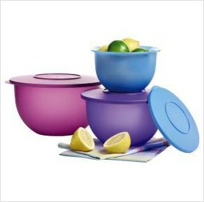 New Tupperware Tupperware Impressions Classic 3 Bowl Seal Set Retail 35 00
