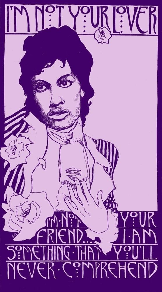 Homage to Prince & Purple Rain Poster by Corina Dross