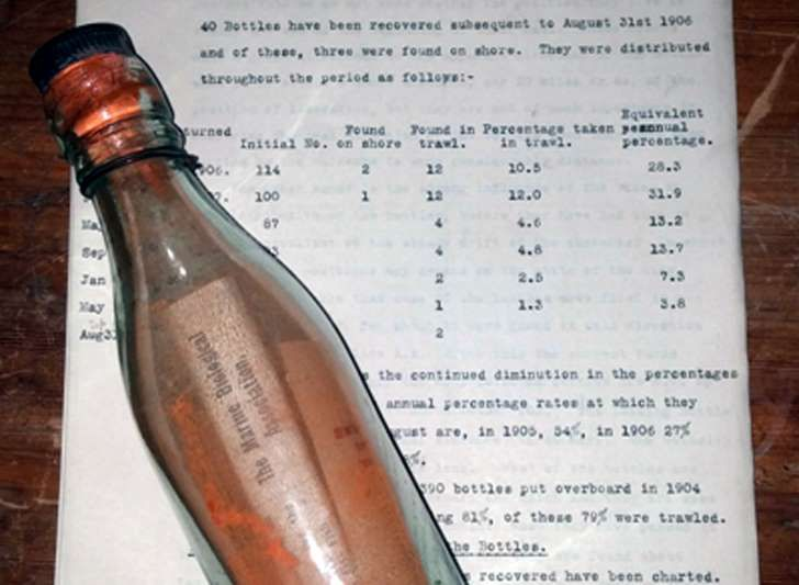 The bottle was released into the North Sea in 1906 and found by a woman on a beach in Amrum, Germany (Picture: [copyright])