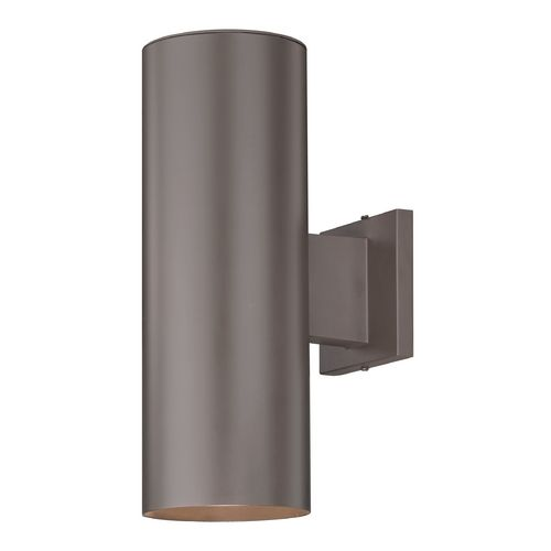 Design Classics Lighting Up / Down Bronze Cylinder Outdoor Wall Light | 5052 PCB | Destination Lighting