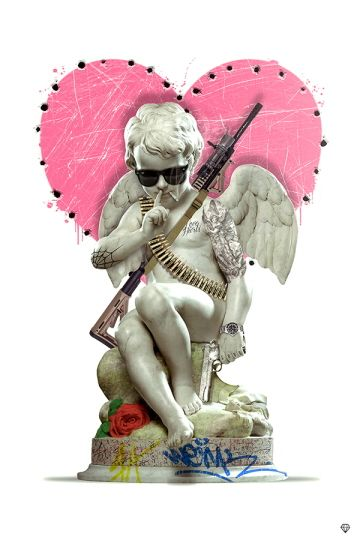 JJ Adams, LOVE GUN signed limited edition (framed) Just £43.50 per month in 10 monthly instalments.