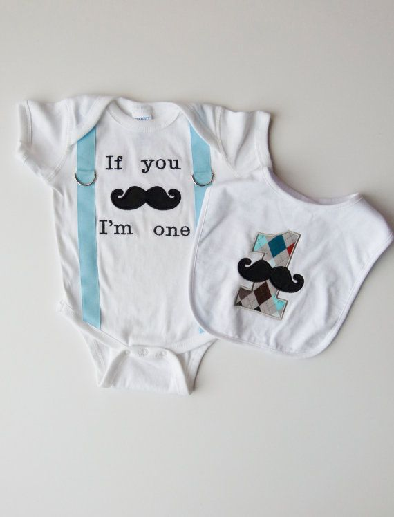 Baby Boy First Birthday Onesie and Suspenders With by mamabijou, $40.00
