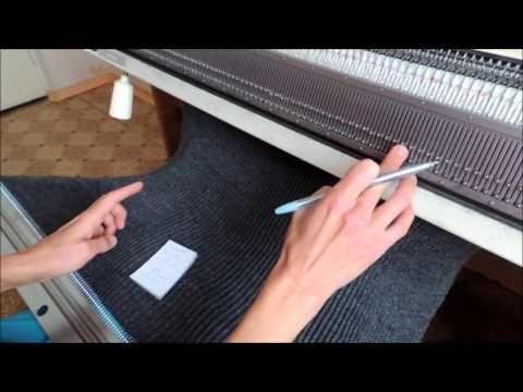 Шапка резинкой 1х1, шесть клиньев - YouTube