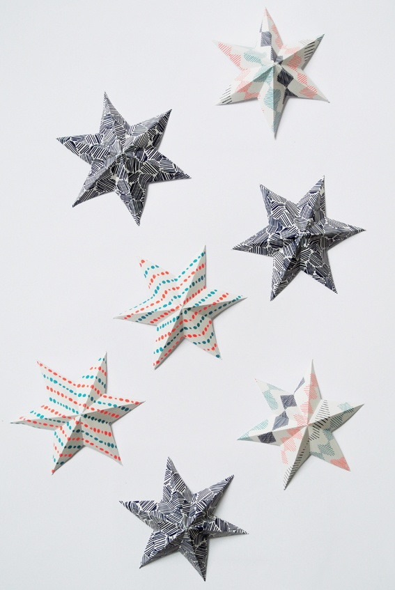 My Attic: folded ornaments
