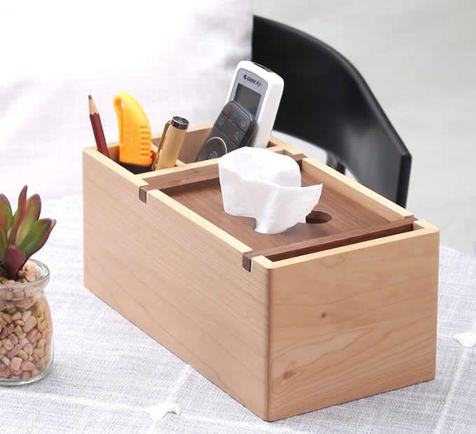 WXQHYD Tissue casa Desktop Box Multi-Function Soggiorno di Legno di bamb/ù Holder Coperchio di Carta Box Cover Telecomando Hotel Storage Box