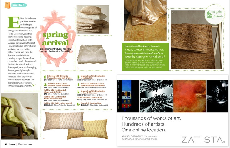 Eileen Fisher Home By Garnet Hill In @lonnymagazine