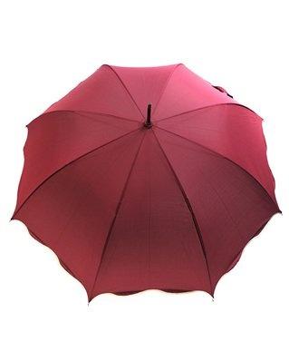 Scalloped Red Umbrella - Valentine's Umbrella Gift Ideas for Lovers