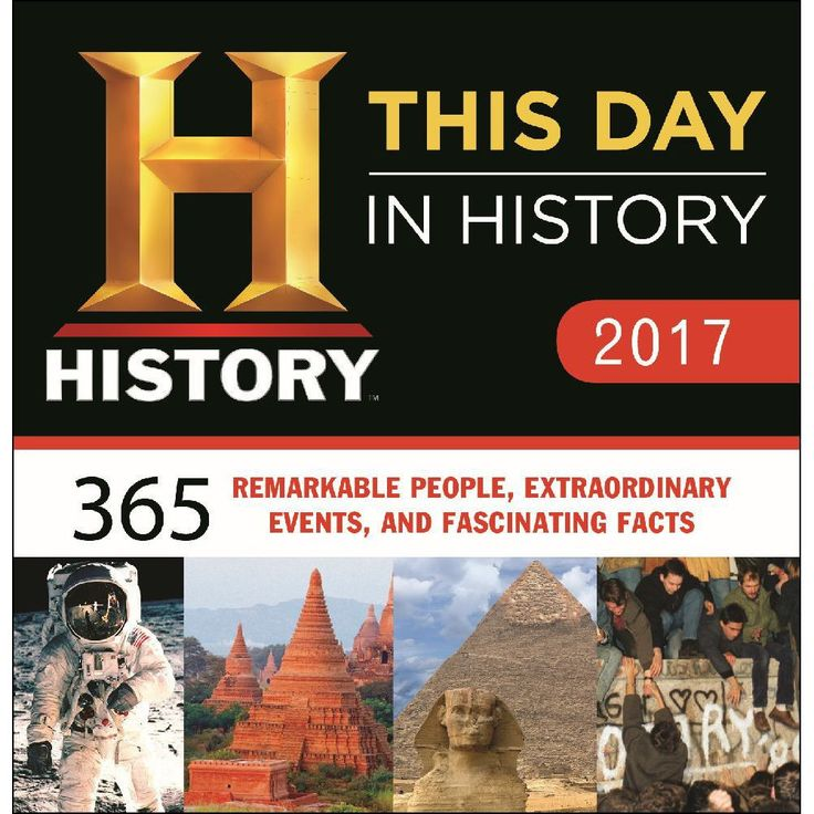 """Perfect for history buffs and trivia lovers alike, this calendar is completely updated with 365 facts that happened """"on this day in history""""."""
