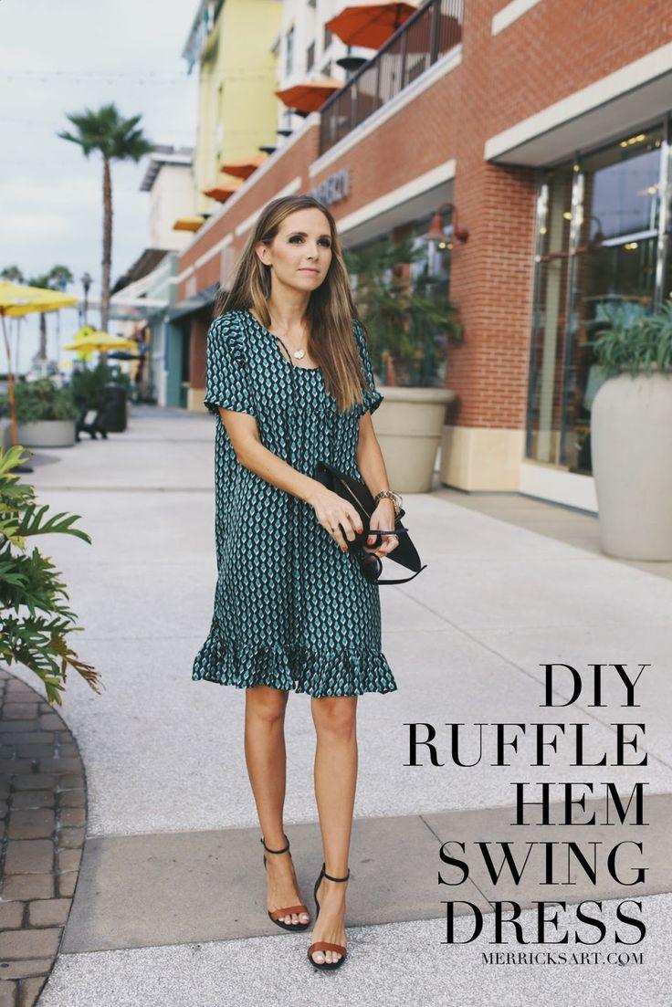 Merrick's Art // Style + Sewing for the Everyday Girl: DIY FRIDAY: RUFFLE HEM SWING DRESS