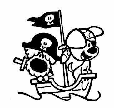 Kleurplaat Piraten