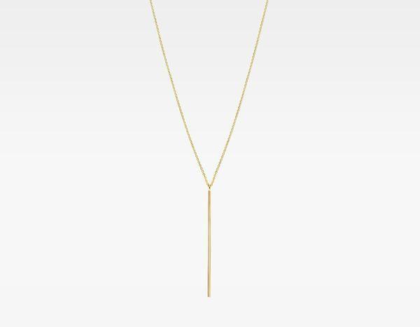 14k gold vertical necklace