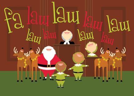 Caroling Legal Library Humor Christmas Cards Charity Christmas