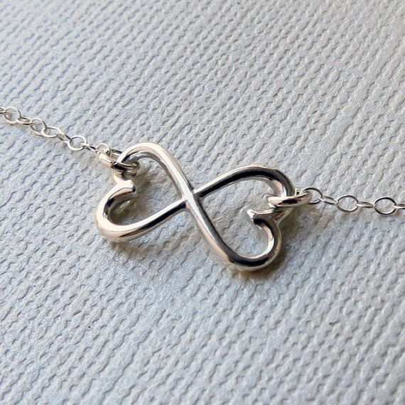 Infinity Heart Necklace  Silver Infinity Pendant Heart by lizix26, $28.00