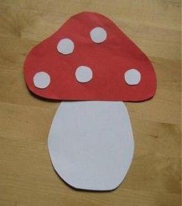 free mushroom craft idea for kids