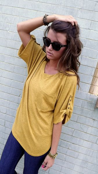 Favorite Fall Tunic - Mustard