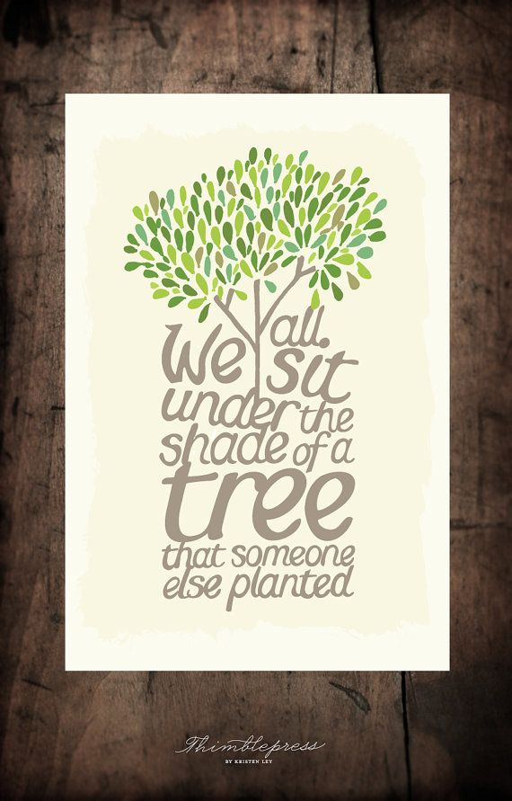Shade of A Tree  Large by thimblepress on Etsy, $20.00