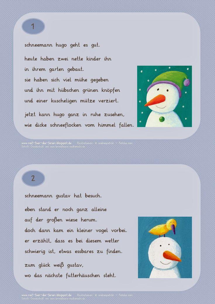 Abschreibkartei Schneemänner Kleinbuchstaben