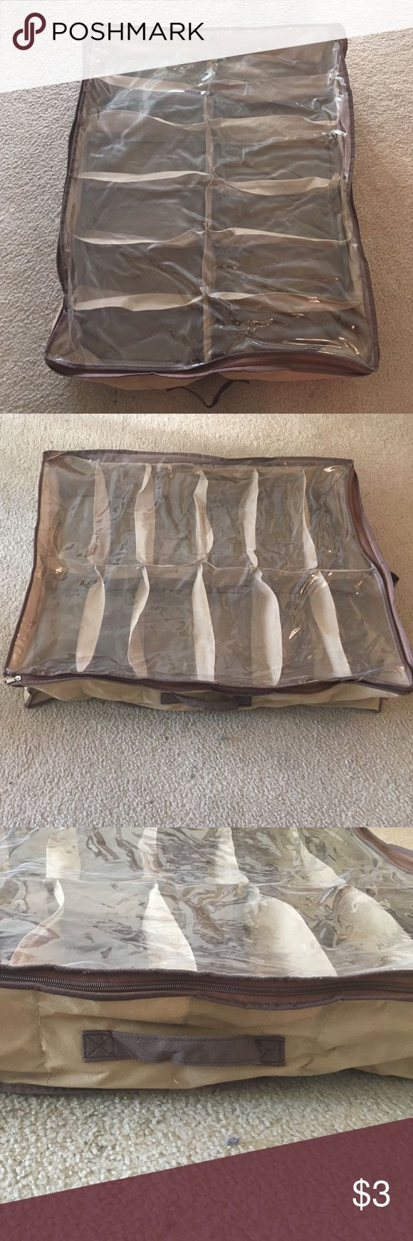 12 spaces shoe rack hanging shoe storage Used but no flaws. Still usable. Accessories
