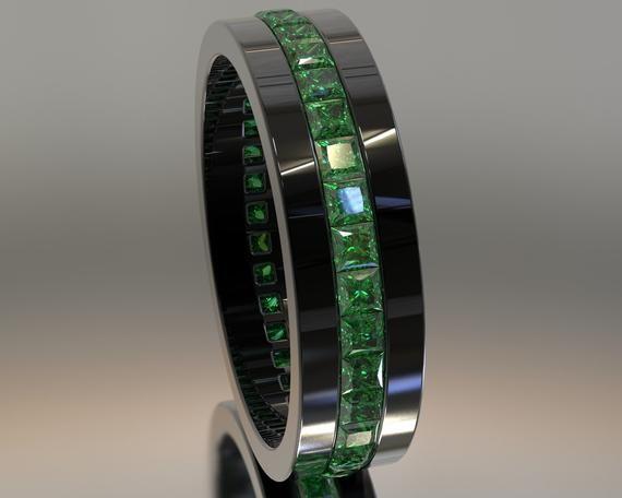 Man Wedding Band Man Emerald Ring Man Wedding Ring Emerald Etsy Mens Wedding Rings Emerald Wedding Rings Mens Black Diamond Wedding Rings