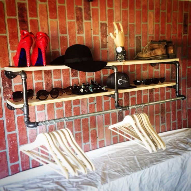 Items Similar To 50 Inch Industrial Clothing Rack And Double Shelf