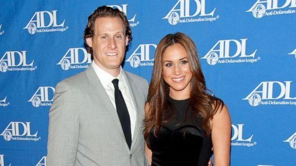 PHOTO: Actress Meghan Markle (R) and her husband Trevor Engelson arrive at the Anti-Defamation League Entertainment Industry Awards Dinner at the Beverly Hilton, on Oct. 11, 2011, in Beverly Hills, Calif. (Amanda Edwards/Getty Images)