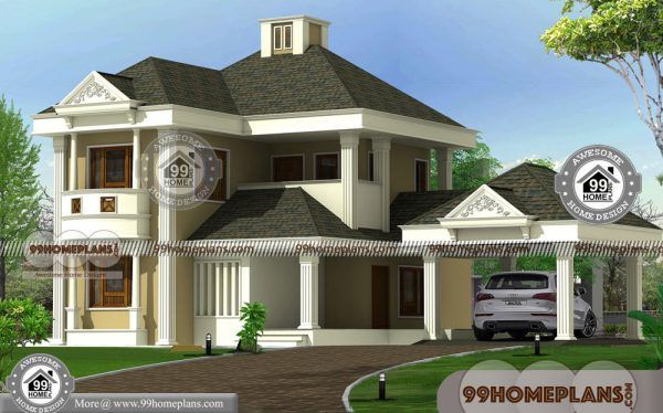 2 Floor Modern House Design With Bungalow Style Traditional Large