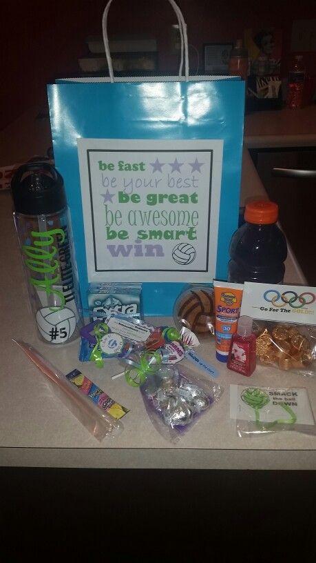 Volleyball nationals gift bags | Locker Ideas | Pinterest ...