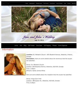 So fun being creative in making my wedding website! Eventastic.com