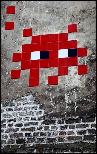 Space Invader. His work reminds me of the ghosts from Pac-man