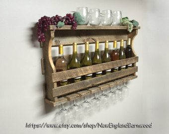 Wine Rack Christmas Gift Unique Wine Rack by JNMRusticDesigns
